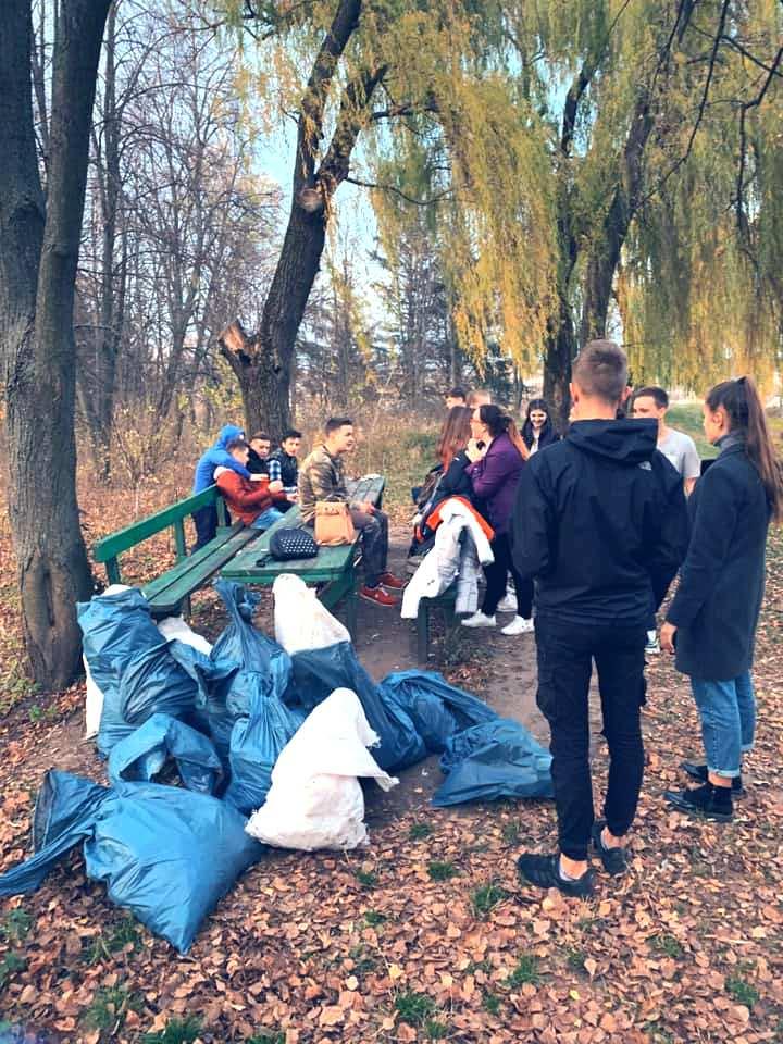 Учні Чуднівського ліцею, акцію по збереженню довкілля