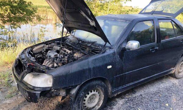 У Чуднівському районі під час руху загорівся автомобіль