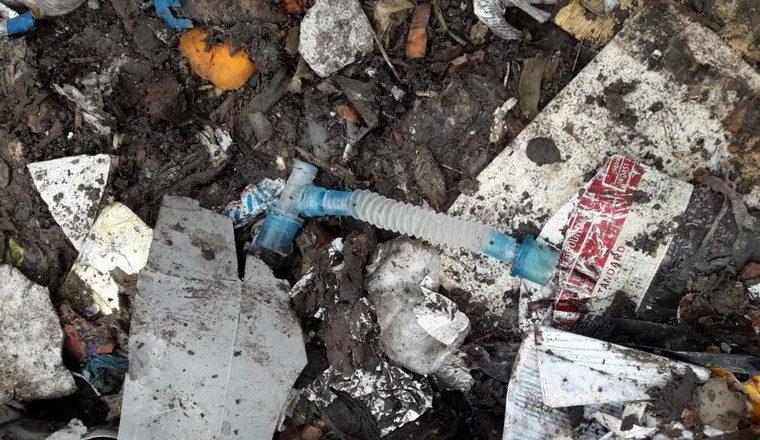 Неподалік Чуднова виявили відходи з медзакладів і платіжки зі Львова