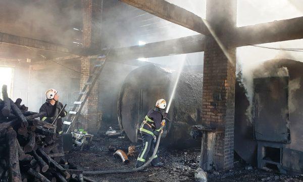На Чуднівщині горіла будівля місцевого підприємства